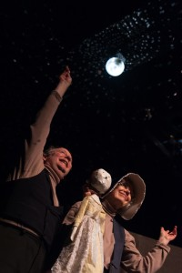 HAPPY ENDING Ann Powell and David Powell in Cinderella in Muddy York, photo by Dahlia Katz smaller